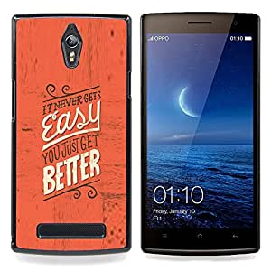 Eason Shop / Premium SLIM PC / Aliminium Casa Carcasa Funda Case Bandera Cover - Fácil Mejor inspiradora motivación rojo texto - For OPPO Find 7 X9077 X9007