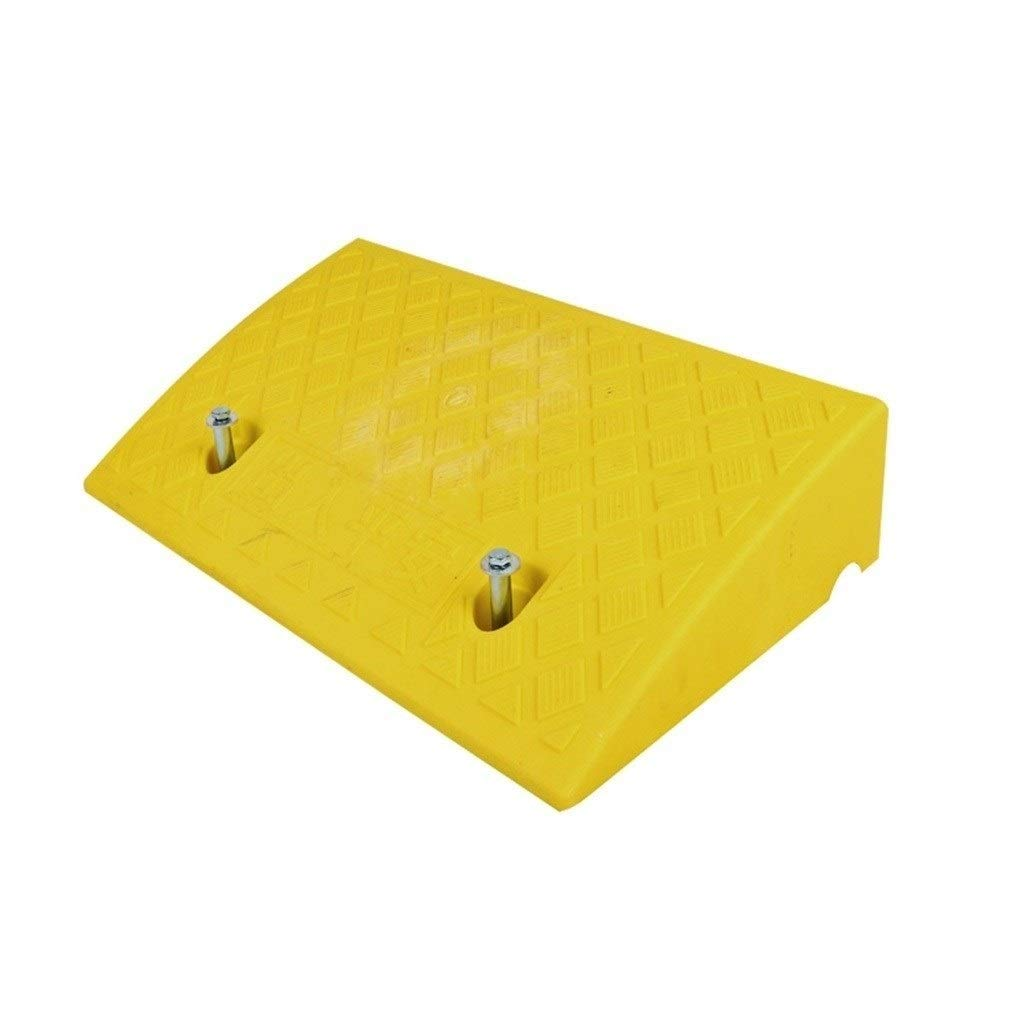 11 way bike CSQ Ramps Threshold Ramps, Color Plastic Wheelchair Ramps Suitable for Trolley Wheelchair Bicycle Step Pad Height: 7-13CM Kerb Ramps (Color : Yellow, Size : 502713CM)