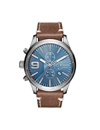 Diesel Men's Quartz Stainless Steel and Leather Casual Watch, Color:Brown (Model: DZ4443)