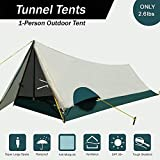 LJNH 2018 New Ultralight Single Person Tent,Lightweight Backpacking Tent,1 Person Personal Bivy Tent Easy Setup for Travel Outdoor Mountaineering Hiking One People Sleeping (Only 2.6lbs)