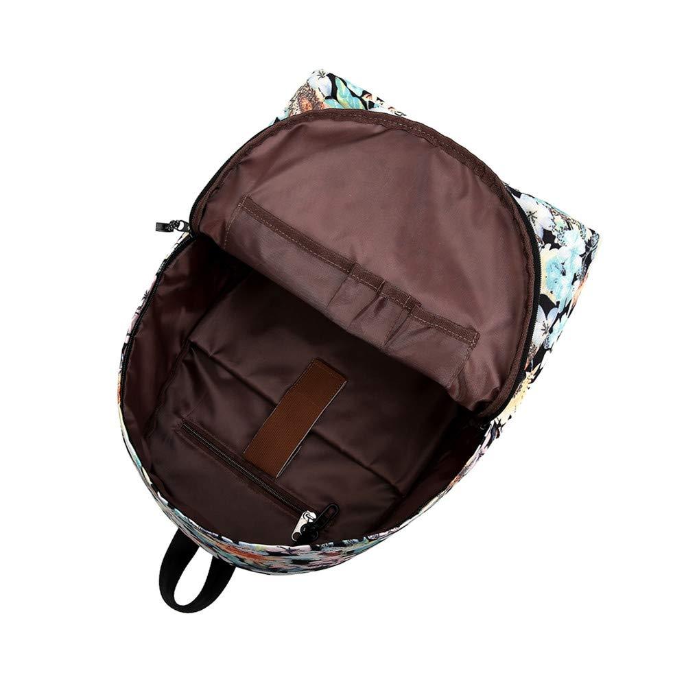 Canvas Backpack, Businda Cute Backpacks School Bookbags Printing Zipper Backpacks Fashion School Bags Casual Canvas Laptop Protective Rucksack for Kids Adults Boys Girls by Businda (Image #6)