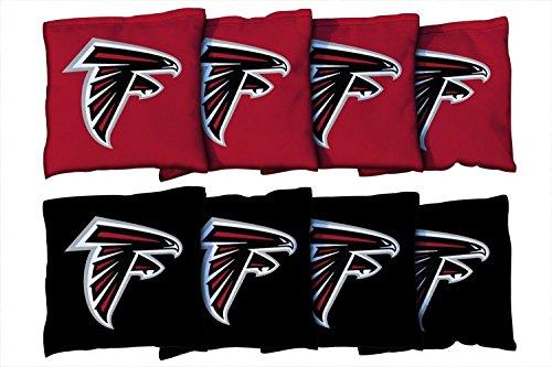 Victory Tailgate Atlanta Falcons NFL Cornhole Game Bag Set (8 Bags Included, Corn-Filled)