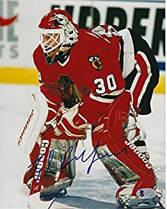 Ed Belfour Signed Chicago Blackhawks 8x10 Photo with - Beckett Certified