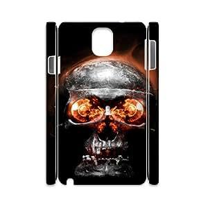 Samsung galaxy note 3 N9000 Fire skulls 3D Art Print Design Phone Back Case DIY Hard Shell Protection LK108649
