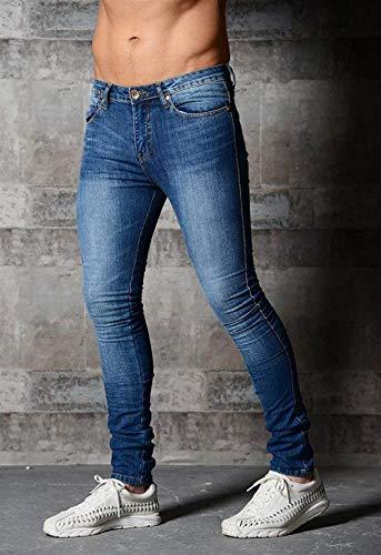 Elasticizzati Uomo Estilo Da Regular Casual Pantaloni Slim Sportivi Fit T Denim Especial Dunkelblau Jeans qvFpUxw