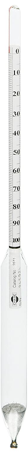 Chase Instruments 2511 Glass Salimeter, 0 to 100 Range, 1mm Interval, 305mm Length