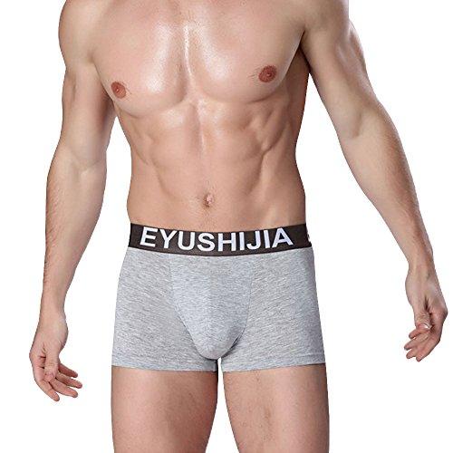 7b616d6f5973 Eyushijia Men's 4 Pack Comfortable Bamboo Fiber Boxer Briefs - Green ...