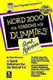 Word 2000 for Windows for Dummies®, Peter Weverka, 0764504495