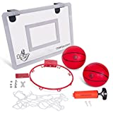 Mini-Basketball-Hoop-with-Breakaway-Rim-Includes-2-Mini-Basketballs-Hand-Pump-with-3-Inflation-Needles-Designed-for-Over-The-Door-use