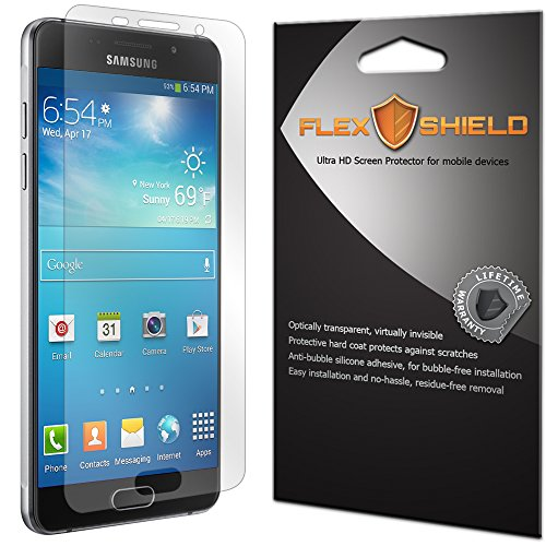 FlexShield [5-Pack] - Samsung Galaxy A3 2016 Screen Protector with Lifetime Warranty - Ultra Clear Japanese PET Film - Bubble-Free HD Clarity with Anti-Fingerprint & Scratch Resistance