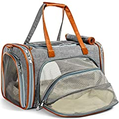 Mr. Peanut's Deluxe Foldable Soft Sided Travel Pet Carrier with Fleece Bedding  The pet carrier you have purchased is designed with high quality materials to keep your pet calm, safe and secure with a latching system and an interior leash rin...