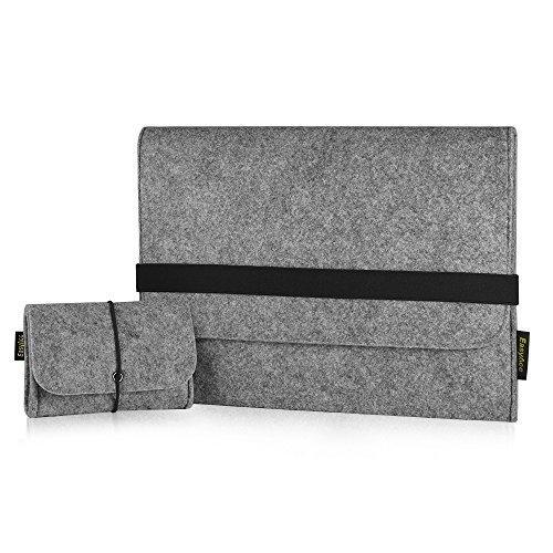EasyAcc® Macbook Pro 13.3 Zoll Filz Sleeve Hülle Ultrabook Laptop Tasche für Apple Macbook Pro und vieles mehr - Grau (Dimension: 340 x 250 x 8 mm)