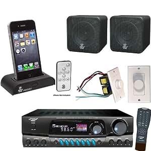 Amazon Com Pyle Stereo Receiver Dock Speaker And Volume