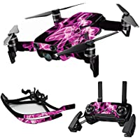 MightySkins Skin for DJI Mavic Air Drone - Pink Flames | Max Combo Protective, Durable, and Unique Vinyl Decal wrap cover | Easy To Apply, Remove, and Change Styles | Made in the USA
