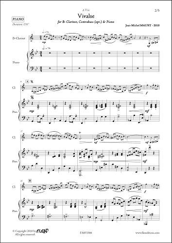 PARTITURA CLASICA - Vivalse - J.-M. MAURY - Clarinet & Piano ...