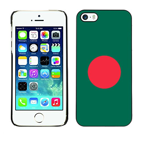 Price comparison product image STPlus Bangladesh Bangladeshi Flag Hard Cover Case for Apple iPhone 5 / 5S