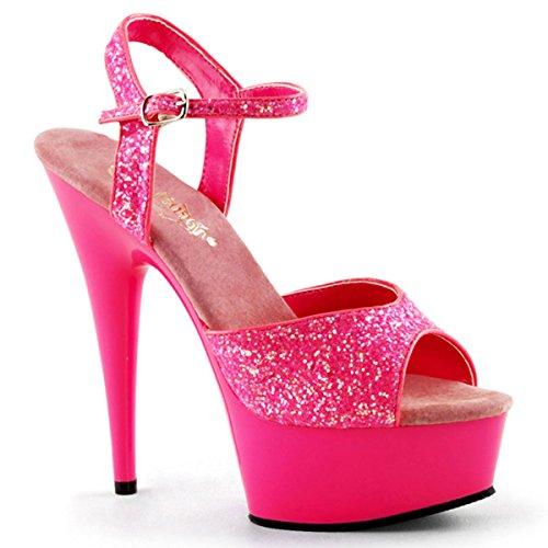 Heels-Perfect - Sandalias de vestir de material sintético para mujer rosa - Pink (Pink)