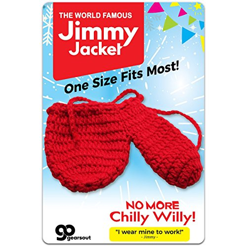 The Jimmy Jacket Knit Wiener Warmer – Willy Warmer Funny Gifts for Men Gag Gift for Men Naughty Gifts Silly Stocking Stuffer for Men Cold Weather Gear Chilly Willy by (Birthday Warm Jacket)