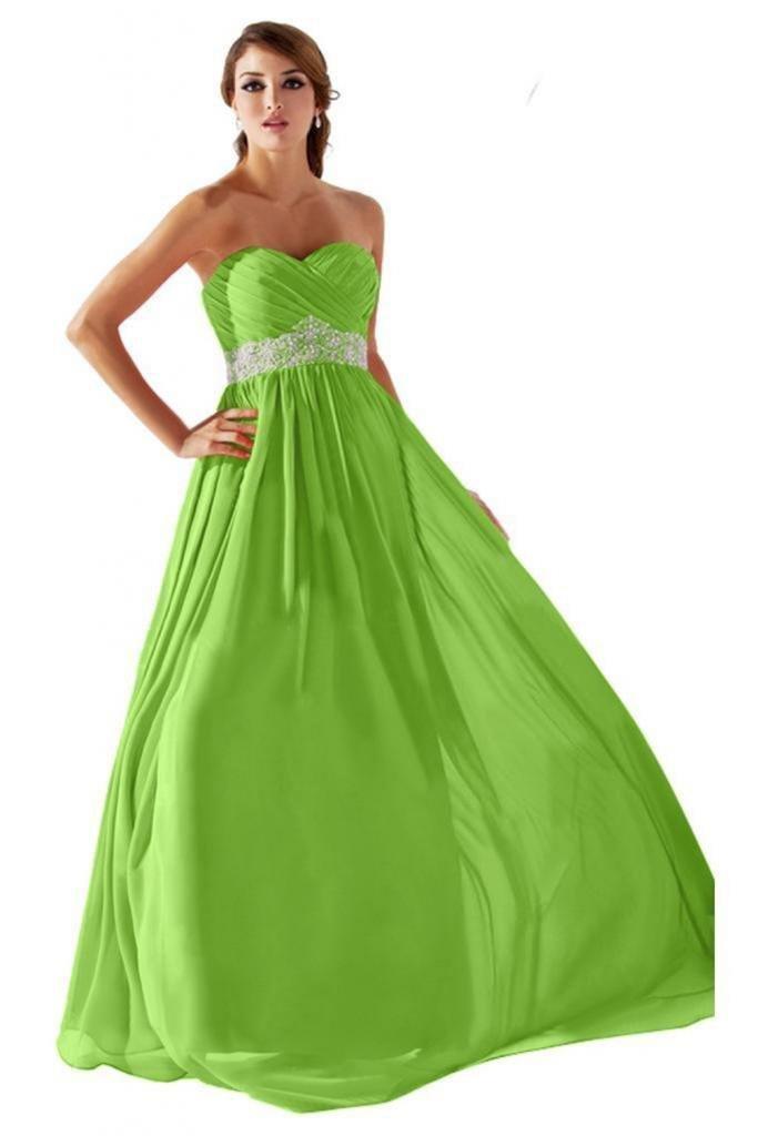 Dearta Women's A-Line Sweetheart Floor-Length Prom Dress US 4 Light Green