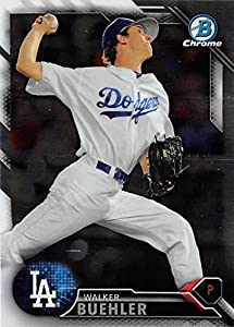 Walker Buehler Baseball Card (Los Angeles Dodgers) 2016 Topps Bowman Chrome #BCP78 Rookie