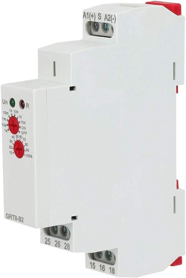 12-240V GRT8-B2 Mini-relais Temporis/é de Rail de Commande /à Fonction Unique AC//DC12V-240V