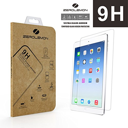 iPad Pro 9.7/ iPad Air 2/iPad Air Screen Protector, ZeroLemon 0.3 mm 9H Premium Tempered Glass Screen Protector for iPad Air (Fits All Versions of iPad Air) and iPad Pro 9.7