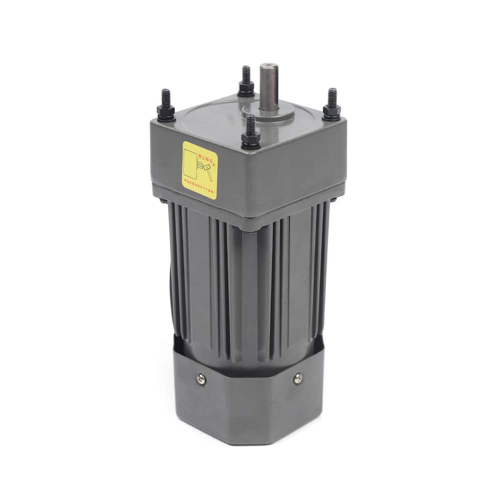 Gear Motor Electric Motor Variable Speed Controller Single-Phase with Variable Speed Controller125RPM Single Phase Worm Gear Motor High Torque Deceleration Speed Reduction120W AC110V