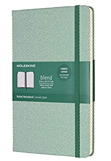 Moleskine Limited Edition Blend Collection Notebook Large Ruled Green (8055002856003) (B01K03DEG8)   Amazon Products