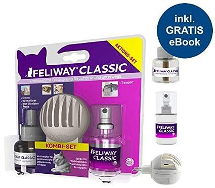 Feliway Classic Nevera Set (vaporizador, nachfüllf Akon + Spray 20 ML) con Gatos
