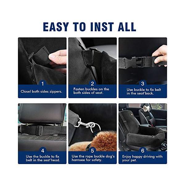 51J6DUFvz1L ZEEXIPDR Autositz für Hunde,Autositze für Haustiere,Der hochwertige Hundesitz bietet eine komfortable und sichere…