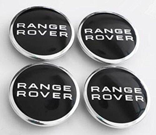 TSD 4Pcs Range Rover Land Rover Supercharged Black 63mm Badge Wheel Hub Center Caps(alternatives Refit Wheel Hub Center Caps)