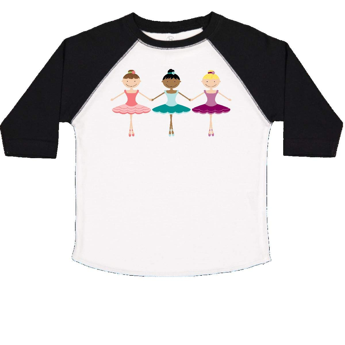 inktastic Little Ballerina Trio Toddler T-Shirt