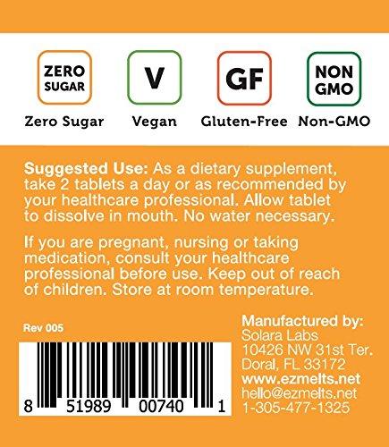 EZ Melts C Immune mg, Sublingual Vegan, Zero Sugar, 60