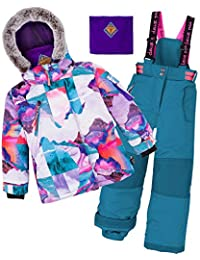 Deux par Deux Girls' 2-Piece Snowsuit Magic Hour Green, Sizes 5-14