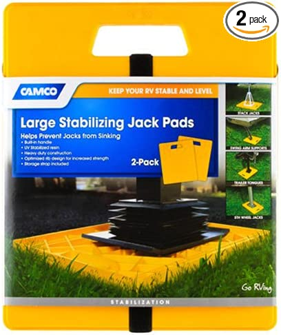 Amazon Com Camco 44541 Large Rv Stabilizing Jack Pads Without Handle Helps Prevent Jacks From Sinking 14 Inch X 12 Inch Pad 2 Pack Automotive