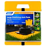 Camco Large RV Stabilizing Jack Pads Without Handle, Helps Prevent Jacks From Sinking, 14 Inch x 12 Inch Pad - 2 pack