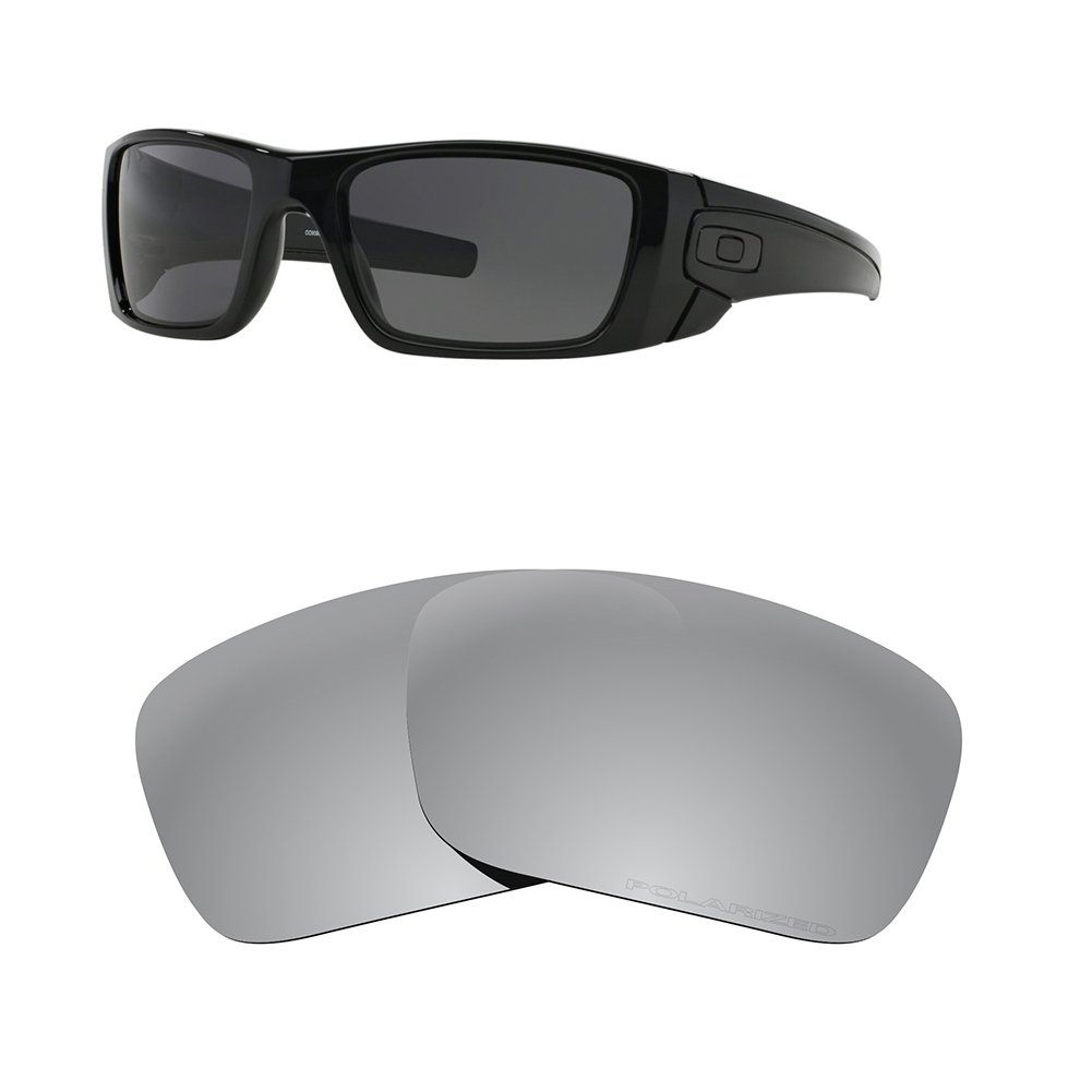 Great Dipper Oakley Replacement Lenses for Fuel Cell Style with Polarized 100% UV Protection Hard Coating Silver Titanium by Great Dipper