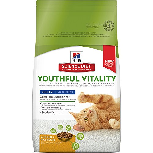 Hill's Science Diet Senior Cat Food, Adult 7+ Youthful Vital
