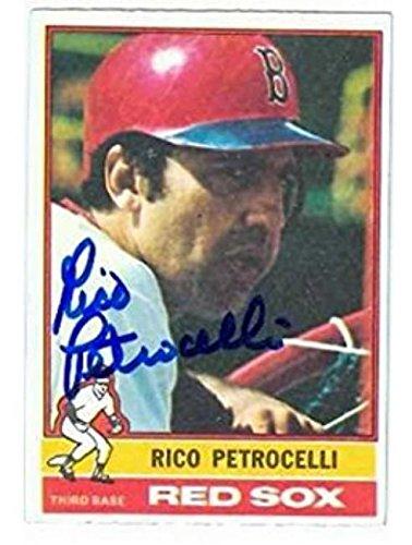 1976 Topps Autographed Baseball Card (Rico Petrocelli autographed Baseball Card (Boston Red Sox) 1976 Topps #445 - Baseball Slabbed Autographed Cards)