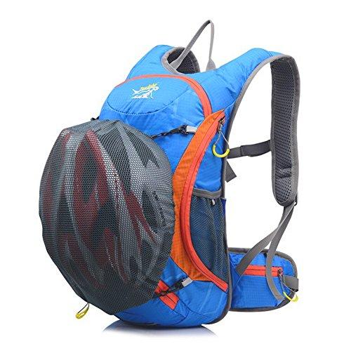 15L waterproof riding helmet backpack Black - 8