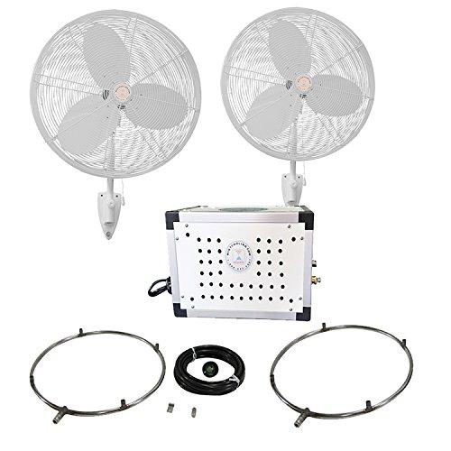 30'' OSC Outdoor Misting Fan Kit - Mid Pressure (2 Fans)