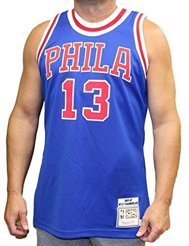 NBA Mitchell & Ness Wilt Chamberlain Philadelphia 76ers 1966 Authentic Throwback Jersey - Royal Blue (44) Authentic Throwback Blue Jersey
