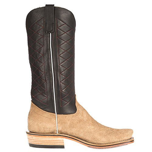 Olathe Boot Co. Hommes Ride Prêt Peau De Vache Roughout W / Noir Point Rouge Haut 9.5 D Mesquite