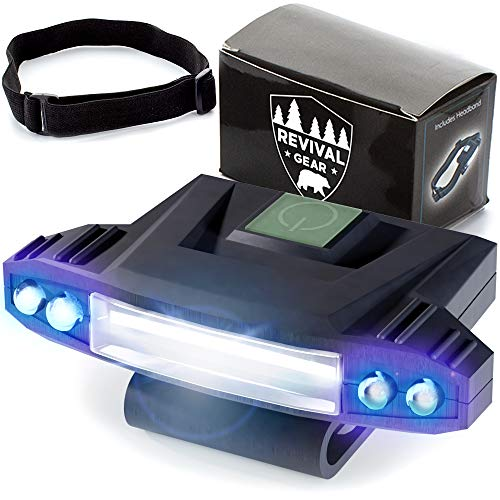 Hat Light Rechargeable LED Headlamp : Best Head Lamps Strap Clip On Flashlight Headlamps For Hardhat & Hats For Camping, Running, Working Hard Hats, Cycling, Walking, Hiking. Bright Lumens Lamp Lights