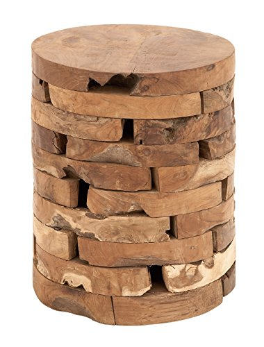 Deco 79 Teak Wood Stool, 14 by 18-Inch For Sale