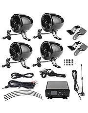 1000W Motorcycle Speaker Bluetooth Amplifier Waterproof Audio Stereo 4 Speaker MP3 FM Radio System for Motorcycles/ATV/UTV/Boat