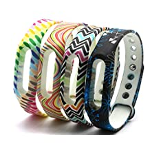 CUMILO XiaoMI Band Colorful Replacement Wristbands for XiaoMi(No Tracker)