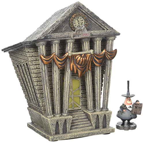 Department 56 Nightmare Before Christmas Village Halloween Town City Hall Lit House -