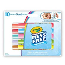 Crayola Color Wonder 10 Count Mini Markers, Pastels