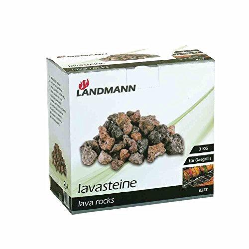 Landmann Lavasteine, Schwarz, 3 kg